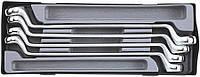 Набор ключей накидных FORCE T5044 под 75° 4пр.