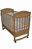 Детская кроватка Соня ЛД 4 (бук) декор зайчик