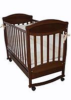 Детская кроватка Соня ЛД 4 (орех) декор зайчик