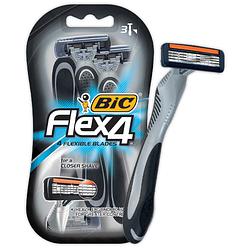 """Станок для бритья мужской """"BIC 4 Flex"""" - 3 шт"""