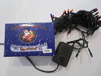 Гирлянда (фонарики) на ёлку разноцветная, 100 L, фото 1