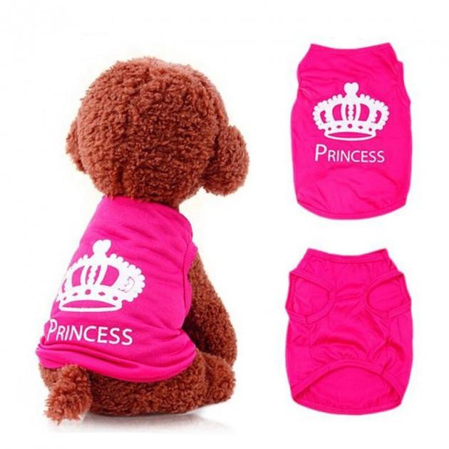 Майка для собак Принцесса М Розовая