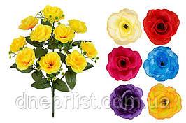 """Букет искусственный """"Розы"""" 12 цветков, 8 см, 48 см (8 видов)"""