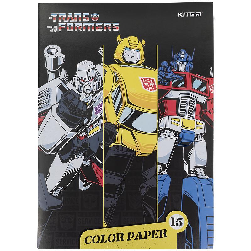 Папір кольоровий двосторонній (15арк/15кол), А4 Transformers tf21-250