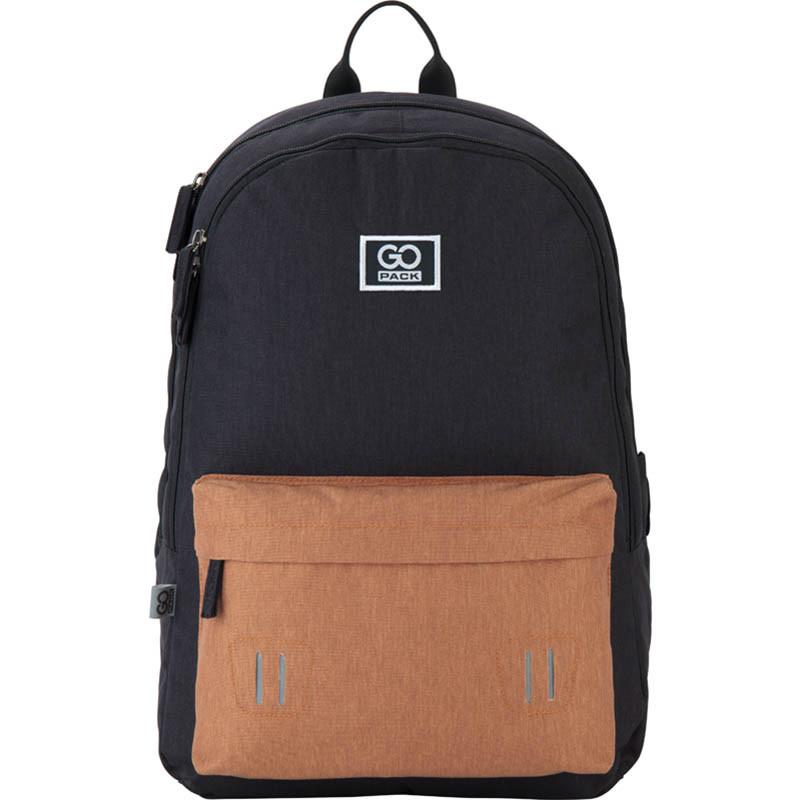 Рюкзак підлітковий GoPack Сity 140-2 чорний, гірчичний go21-140l-2