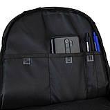 Рюкзак підлітковий GoPack Сity 140-2 чорний, гірчичний go21-140l-2, фото 3