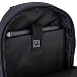 Рюкзак підлітковий GoPack Сity 140-2 чорний, гірчичний go21-140l-2, фото 4