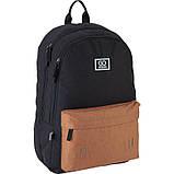 Рюкзак підлітковий GoPack Сity 140-2 чорний, гірчичний go21-140l-2, фото 5