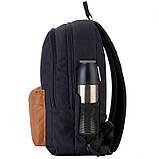 Рюкзак підлітковий GoPack Сity 140-2 чорний, гірчичний go21-140l-2, фото 9