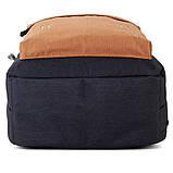 Рюкзак підлітковий GoPack Сity 140-2 чорний, гірчичний go21-140l-2, фото 10