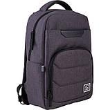 Рюкзак підлітковий GoPack Сity 144-2 сірий go21-144m-2, фото 2