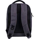 Рюкзак підлітковий GoPack Сity 144-2 сірий go21-144m-2, фото 3