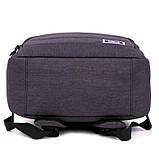 Рюкзак підлітковий GoPack Сity 144-2 сірий go21-144m-2, фото 6