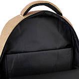 Рюкзак подростковый GoPack Сity 157-1 горчичный go21-157l-1, фото 2