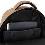 Рюкзак подростковый GoPack Сity 157-1 горчичный go21-157l-1, фото 3