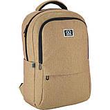 Рюкзак подростковый GoPack Сity 157-1 горчичный go21-157l-1, фото 5
