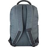 Рюкзак підлітковий GoPack Сity 157-2 сірий go21-157l-2, фото 6