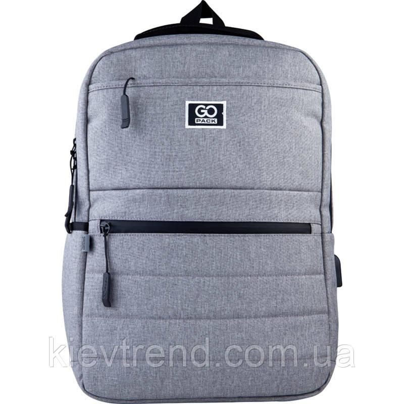 Рюкзак подростковый GoPack Сity 167-1 серый go21-167m-1