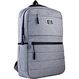 Рюкзак підлітковий GoPack Сity 167-1 сірий go21-167m-1, фото 2
