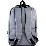 Рюкзак підлітковий GoPack Сity 167-1 сірий go21-167m-1, фото 3