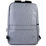 Рюкзак підлітковий GoPack Сity 167-1 сірий go21-167m-1, фото 4