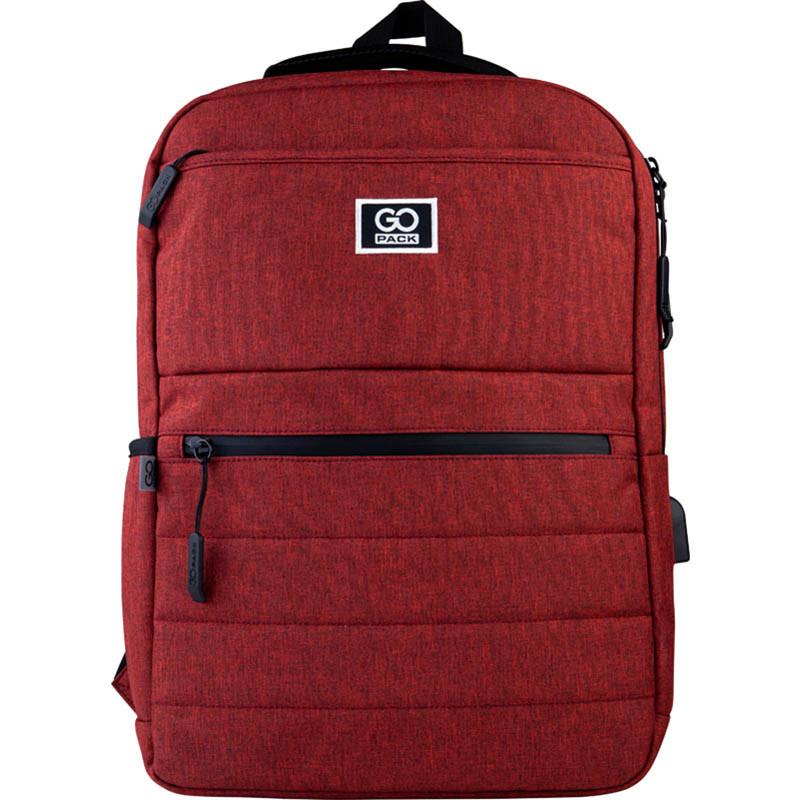Рюкзак подростковый GoPack Сity 167-2 бордовый go21-167m-2