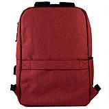 Рюкзак підлітковий GoPack Сity 167-2 бордовий go21-167m-2, фото 4