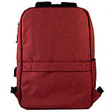 Рюкзак подростковый GoPack Сity 167-2 бордовый go21-167m-2, фото 4