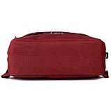 Рюкзак підлітковий GoPack Сity 167-2 бордовий go21-167m-2, фото 6