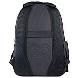 Рюкзак подростковый GoPack Сity 171-1 черный go21-171l-1, фото 5