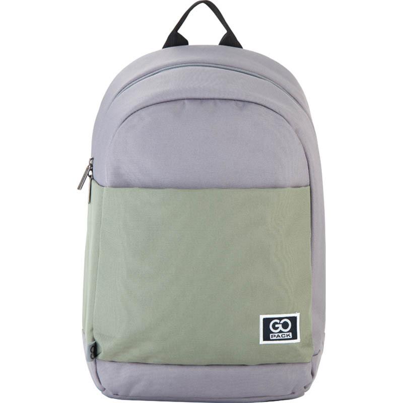 Рюкзак подростковый GoPack Сity 173-3 серый, хаки go21-173l-3