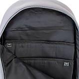 Рюкзак підлітковий GoPack Сity 173-3 сірий, хакі go21-173l-3, фото 8