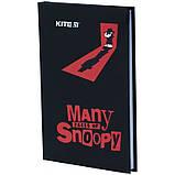 Книга записная твердая обкл. в клетку А6, 80арк. в клеточку Snoopy - 1 sn21-199-1, фото 2