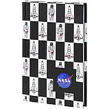Книга записная твердая обкл. в клетку А6, 80арк. в клеточку NASA-1 ns21-199-1, фото 2