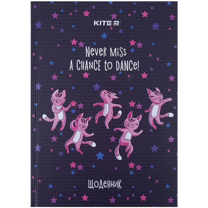 Щоденник шкільний, тверда обкл, Dancing cats k21-262-5