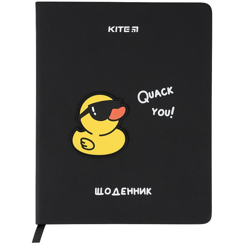 Щоденник шкільний, тверда обкл. в клітинку PU, Duck k21-264-1