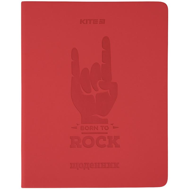Щоденник шкільний, тверда обкл. в клітинку PU, Rock k21-264-5
