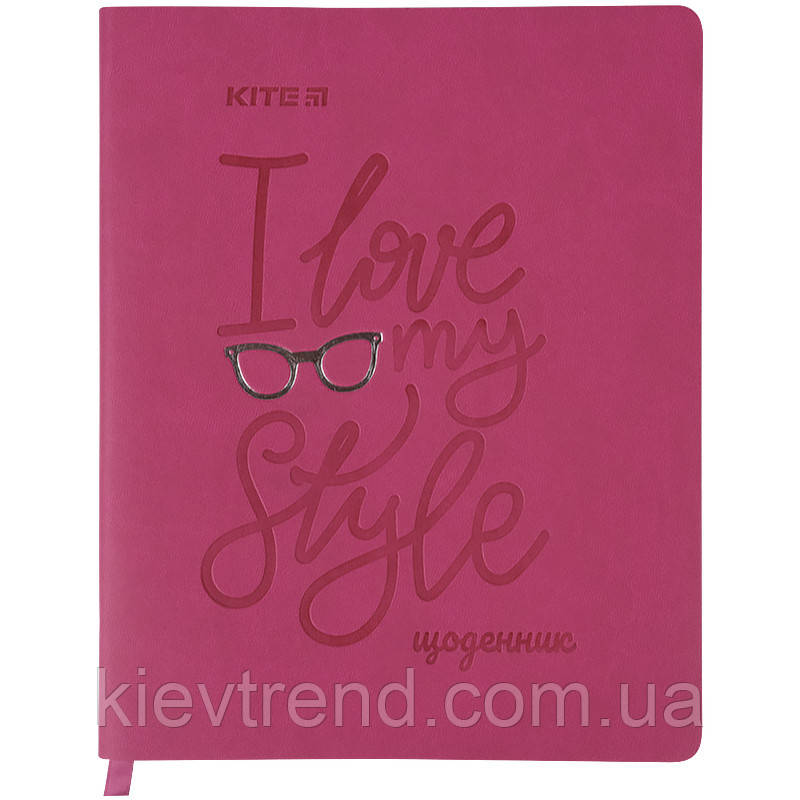 Дневник школьный, мягкая обкл. в клеточку PU, Style k21-283-3