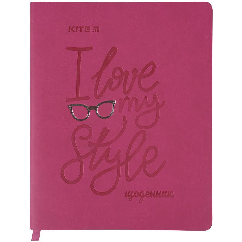 Щоденник шкільний, м'яка обкл. в клітинку PU, Style k21-283-3