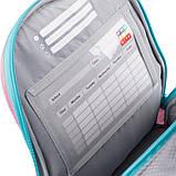 Набір для першого класу рюкзак + пенал + сумка для взуття WK 702 рожево-блак. set_wk21-702m-1, фото 3