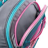 Набір для першого класу рюкзак + пенал + сумка для взуття WK 702 рожево-блак. set_wk21-702m-1, фото 4