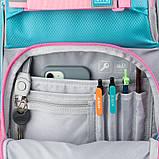 Набір для першого класу рюкзак + пенал + сумка для взуття WK 702 рожево-блак. set_wk21-702m-1, фото 5