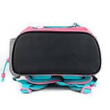 Набір для першого класу рюкзак + пенал + сумка для взуття WK 702 рожево-блак. set_wk21-702m-1, фото 6