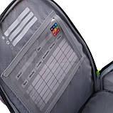 Набір для першого класу рюкзак + пенал + сумка для взуття WK 702 сірий set_wk21-702m-4, фото 3