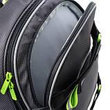 Набір для першого класу рюкзак + пенал + сумка для взуття WK 702 сірий set_wk21-702m-4, фото 4