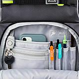 Набір для першого класу рюкзак + пенал + сумка для взуття WK 702 сірий set_wk21-702m-4, фото 5