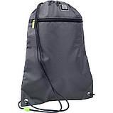 Набір для першого класу рюкзак + пенал + сумка для взуття WK 702 сірий set_wk21-702m-4, фото 9