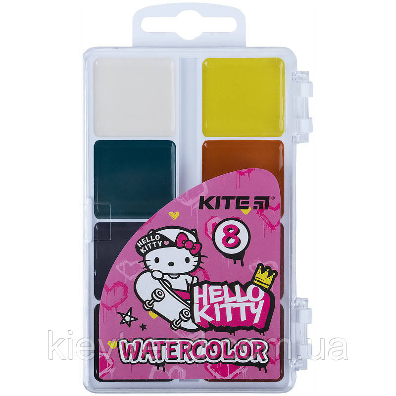 Краски акварельные, без кисточки, 8 цветов Hello Kitty hk21-065
