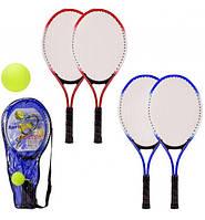 Детская Ракетка для большого тенниса с мячом, в чехле – 24*2,5*54 см