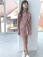 {есть:134 СМ,140 СМ,146 СМ,158 СМ} Платье экокожа для девочек,  Артикул: MC191 [140 СМ]